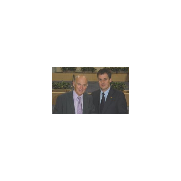 David Goodall with Liberal Democrat Shadow Chancellor Vince Cable MP