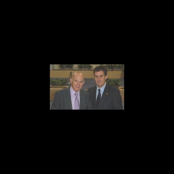 David Goodall with Liberal Democrat Shadow Chancellor Vince Cable MP