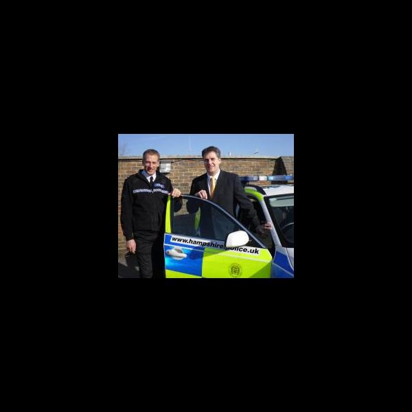 David Goodall visits Hampshire Police Traffic divison