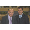 Liberal Democrat Shadow Chancellor Vince Cable MP and David Goodall