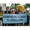 David Goodall taking the Fluoride fight to Downing Street with Chris Huhne MP, Sandra Gidley MP, Southampton Test PPC David Callaghan and the Hampshire Against Fluoridation Campaign