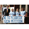 David Goodall with the Hampshire Against Fluoride Campaign at Central Baptist Church, Bargate, Southampton