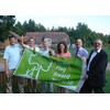 David Goodall celebrates with Councillors House, Tennent, Bloom, Kyrle and Pretty Itchen Valley Country Park's green Flag Award