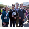 The Goodall family finish the 2012 Walk the Wight
