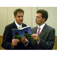 Cllr David Goodall & Tom Brake MP, Deputy Leader of the House of Commons discuss the Trusted, Professional, Effectiive - British Policing at its best - a policy produced by the Lib Dem Parliamentary Committee on Home Affairs and Justice he Co-chaired