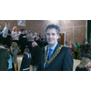 Parish Council Chair, David Goodall at the West End Christmas Party