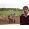 Cllr David Goodall by the improved play facilities at Itchen Valley Country Park, West End