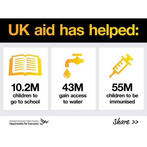 UK aid has helped millions