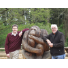 Cllr David Goodall and Cllr Tony Noyce at the new Go-Ape facility within Itchen valley Country Park, West End