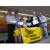 David Goodall with the Lib Dems street stall gathering signatures against the state of Southampton's roads