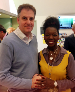 David Goodall with Floella Benjamin