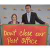 'little & large' or Sarah Teather MP & Cllr David Goodall campaign against Post Office closures