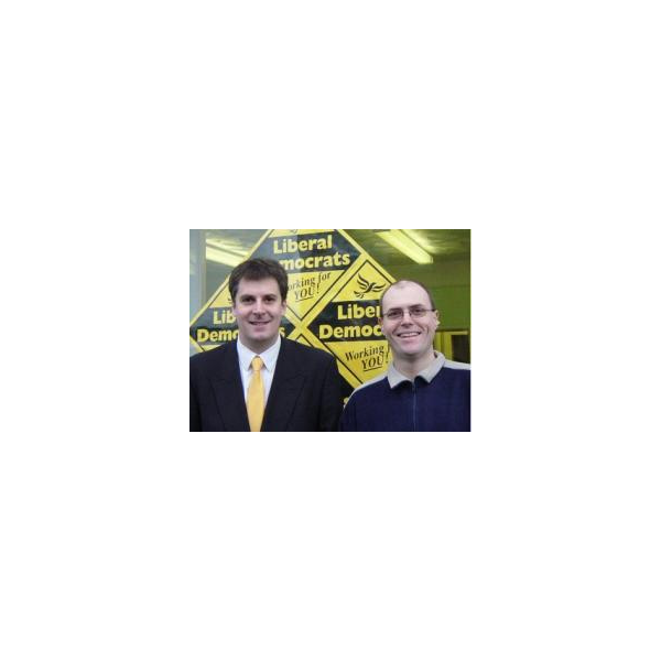 Lib Dem candidates: David Goodall (left) and Steve Sollitt (right)