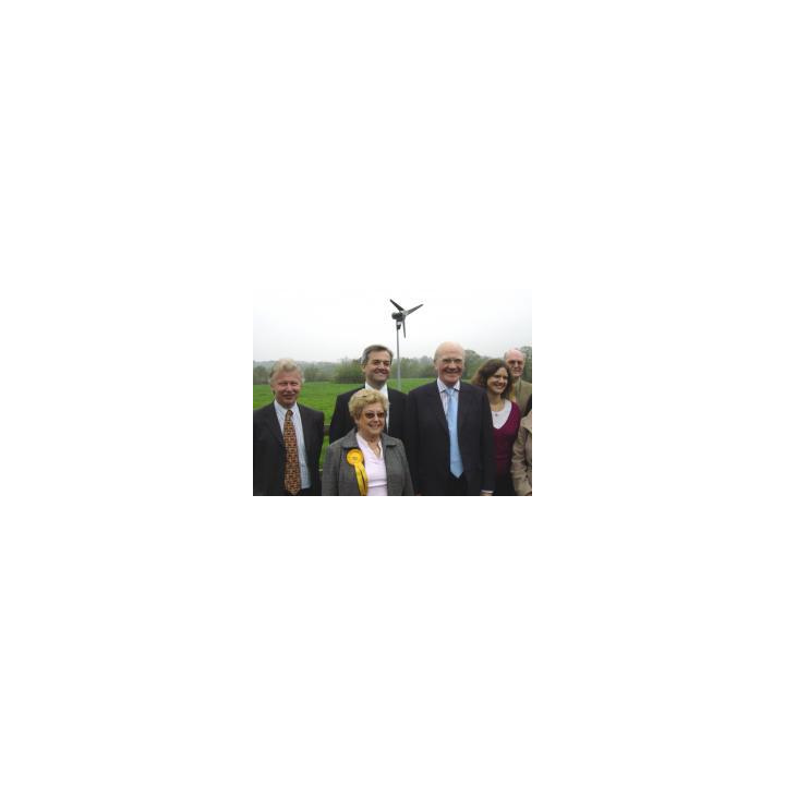 Sir Ming with Bruce Tennent, Joyce Sortwell, Chris Huhne and the rest of the winning Lib Dem team at Itchen Valley Country Park