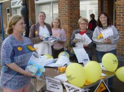 Liberal Democrats campaigning in Eastleigh