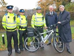 West End PCSOs receive their patrol bike