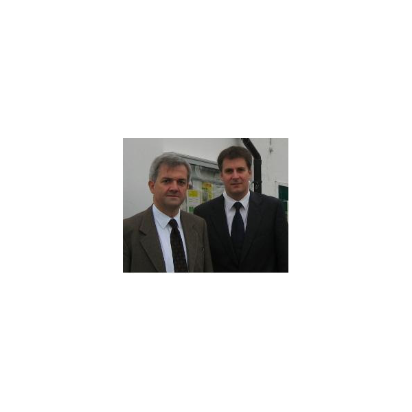 Chris Huhne MP and Cllr David Goodall
