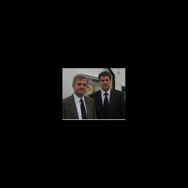 Chris Huhne MP and Cllr David Goodall