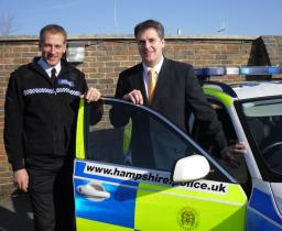 David Goodall visits Hampshire Police Traffic divison