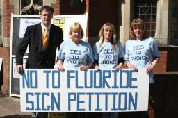 David Goodall with the anti-fluoridation campaign