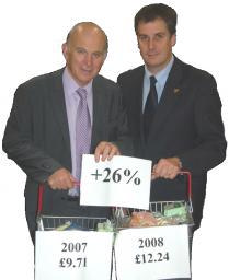 Liberal Democrat Shadow Chancellor Vince Cable MP and Cllr David Goodall highlight the 'real' inflation rate