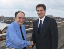 Local Party Cllr Gerry Drake congratulates David on becoming PPC for Southampton Itchen