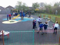 Moorgreen play area after the revamp