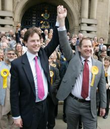 Nick Clegg and the Liberal Democrats are winning support across Britain