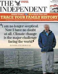 Now I have no doubt at all. Climate change is the major challenge facing the world - David Attenborough