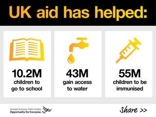 UK aid has helped millions